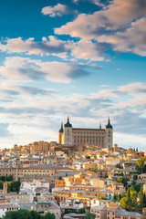 Toledo, Spain town city view at the alcazar