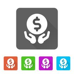 App Icon Long Shadow - 5 Colors