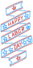 American labor day label