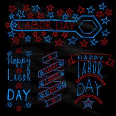 American labor day label