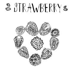 Strawberry hand drawn vintage doodle vector illustration