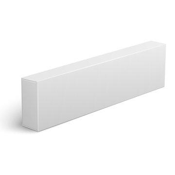 Long blank cardboard box template.