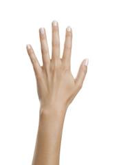 Hand mit schönen Nägeln