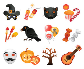 Halloween collection of icons.