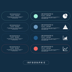 Business Infographics Minimal style Vector illustration. can be used for workflow layout, banner, diagram, number options, step up options, web design.