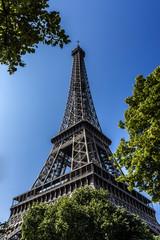 Tour Eiffel (Eiffel Tower), Champ de Mars in Paris, France.