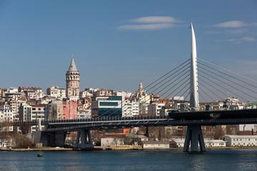Metro bridge and Galata Tower