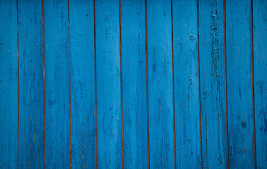 background texture of the old blue boards