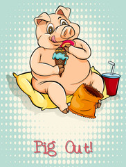 English idiom pig out