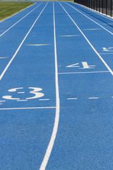 Close Up Of Blue School Track