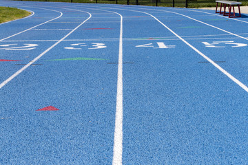 High School Track Detail With Numbers