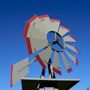 Garden Weathervane Windmill Detail