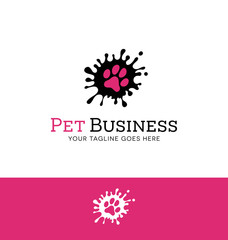 Logo design paw print for pet related business or website about pets
