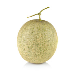 Fresh honeydew Melon on White Background