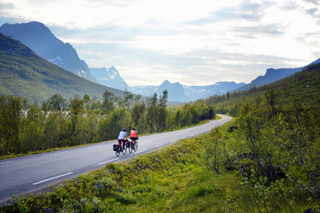 Bicycle tour, Senja island, Norway