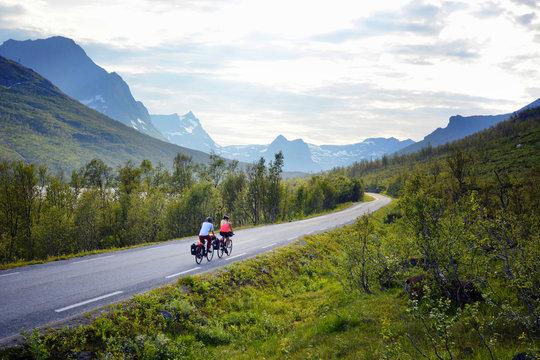 Bicycle tour, Senja island, Norway