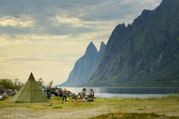 Camping in Norway, Senja island