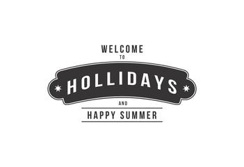 Happy Holliday logo vector illustration