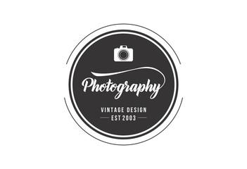 Photography logo vector illustration typographic