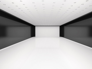 Wall Mural - 3d illustration of abstract empty room