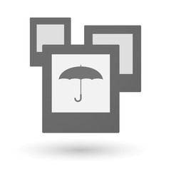 Isolated group of photos with an umbrella
