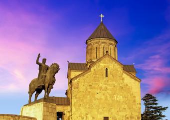 The Metekhi church in Tbilisi