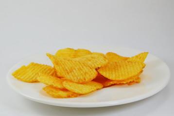 potato chip on dish