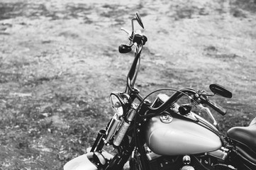 Motorcycle in the countryside.