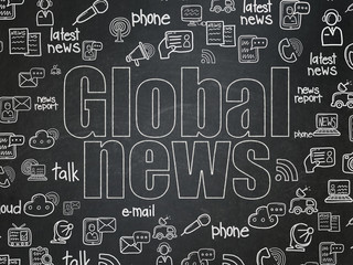 News concept: Global News on School Board background