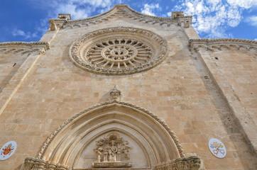 Cathedral facade in Ostuni, Puglia, Italy