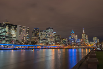 Night time at Melbourne city, Queensland, Australia.