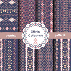 Set of abstract pattern in ethnic style