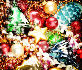 Christmas Colorful Background. Christmas and New Year Decoration