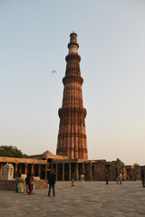 Qutb Minar is a UNESCO World Heritage Site with the height of 74 meters, is the second tallest minar in India.