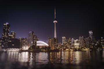 Wall Murals Toronto Toronto Skyline at Night. The Toronto, Canada city skyline at night.