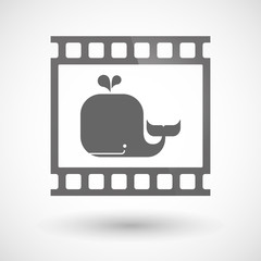 Photographic film icon with a whale