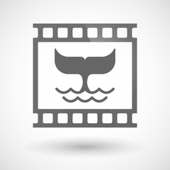 Photographic film icon with a whale tail