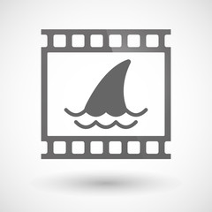 Photographic film icon with a shark fin