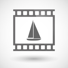 Photographic film icon with a ship