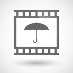 Photographic film icon with an umbrella