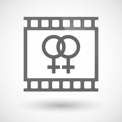 Photographic film icon with a lesbian sign
