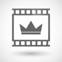 Photographic film icon with a crown
