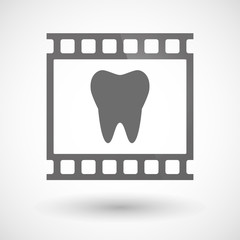 Photographic film icon with a tooth