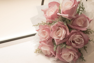 Rose, artificial flowers bouquet