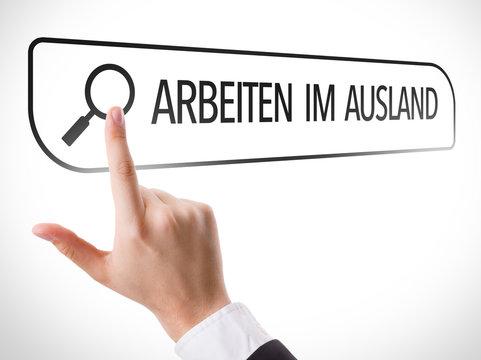 Working Abroad (in German) written in search bar