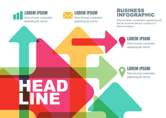 Vector business template for brochure, flyer, poster, infographi