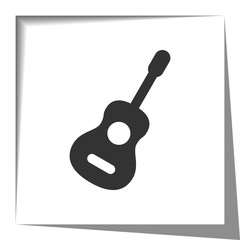 Guitar icon with cut out shadow effect