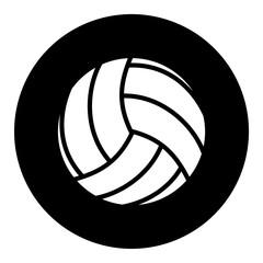 Volleyball ball Icon black circle