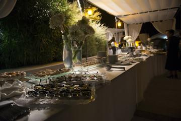 Wedding buffet italian sea food