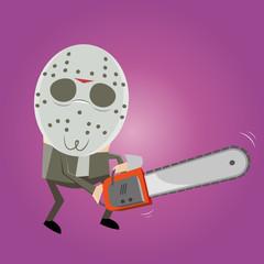 kettensäge maske horror cartoon